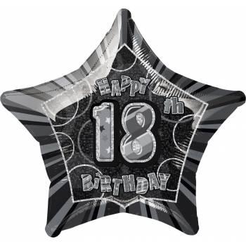 Ballon star noir 18 ans