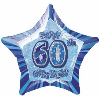 Ballon Star Bleu 60 ans