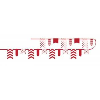 Guirlande fanions assortis rouge