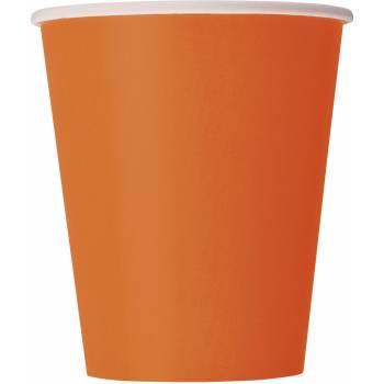 14 Gobelets en carton orange