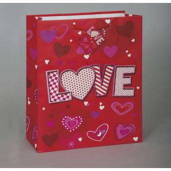 Grand sac cadeau Love