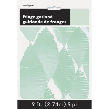Guirlande frange en papier mint
