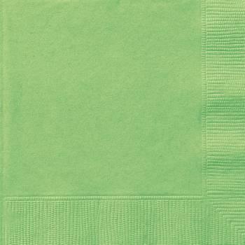 20 Serviettes papier vert lime