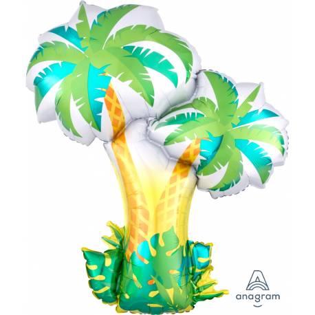 Ballon hélium en forme de palmiers idéal pour la décoration d'une soirée estivale Doit être gonflé idéalement à l'hélium pour qu'il...