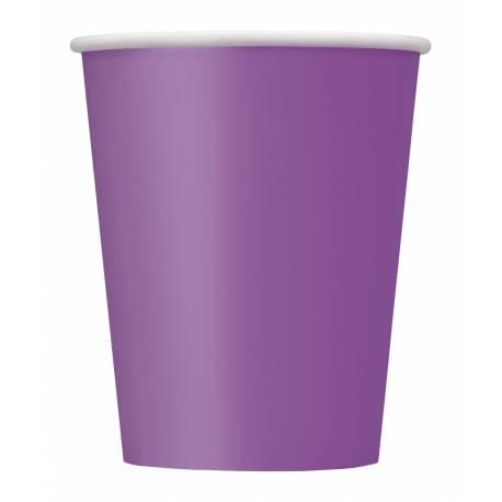 14gobelets en carton violet clair 27cl