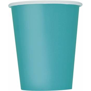 14 Gobelets carton bleu caraïbe