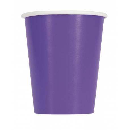 14gobelets en carton fluo violet 27cl