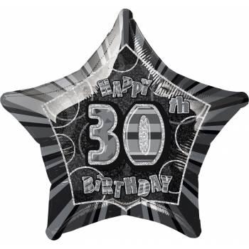 Ballon star noir 30 ans