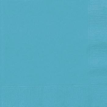 20 Serviettes papier bleu caraïbe