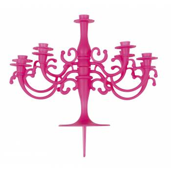 Bougie chandelier fuchsia