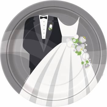 8 assiettes mariage romantique