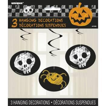 3 Suspensions happy halloween