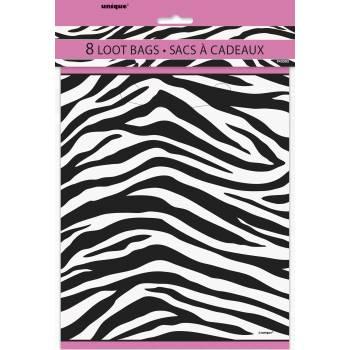 8 sachets de fête zebra passion