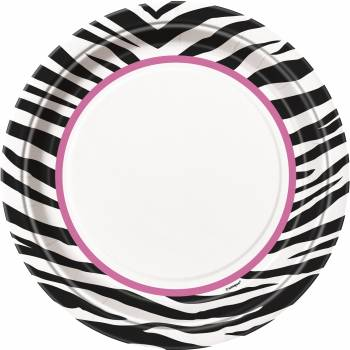 8 assiettes zebra passion