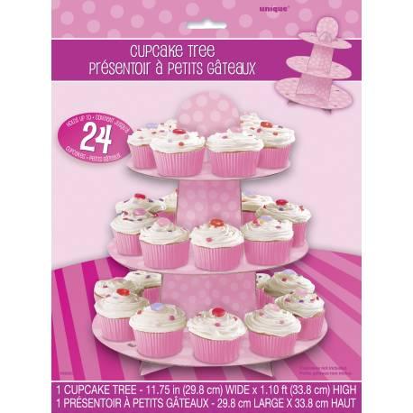 Présentoir cupcakes prévu pour 24 cupcakes de taille standardou autres petits réduits, biscuits, petits fours... Dimensions: 30 cm x 35 cm