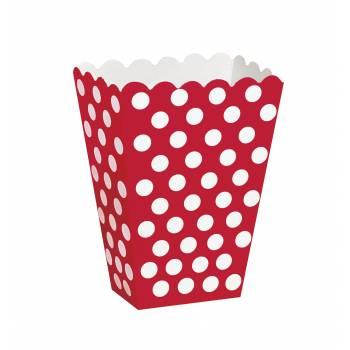8 Boîtes Pop Corn pois rouge
