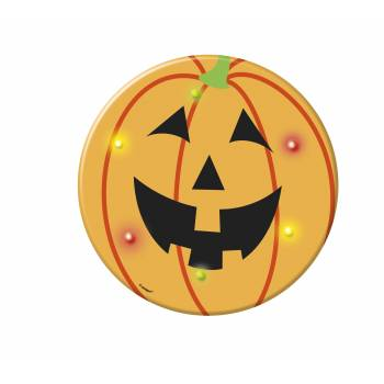 Badge clignotant citrouille Halloween