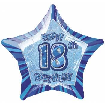 Ballon Star Bleu 18 ans