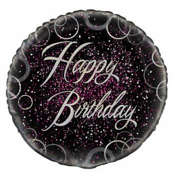 Ballon hélium HB glitz black pink