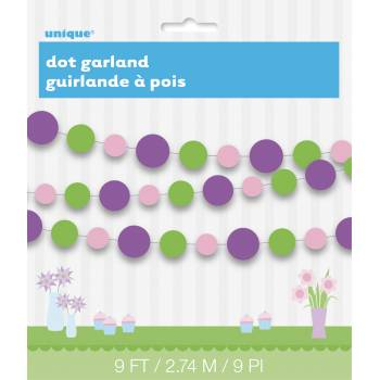 Guirlande de cercles papier printemps