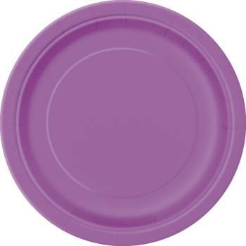 20 Assiettes dessert rondes violette claire