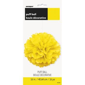 Suspension froufrou papier fluo jaune