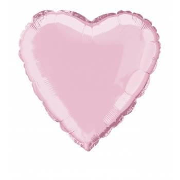 Ballon hélium coeur rose