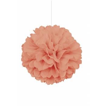 Suspension froufrou papier corail