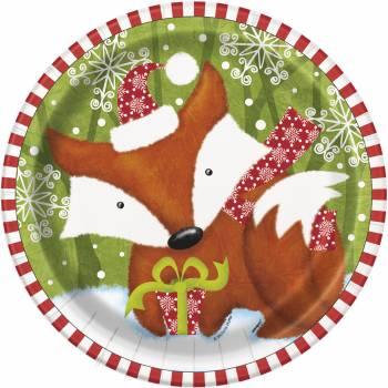 8 Assiettes Forêt de Noël