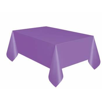 Nappe en plastique lilas