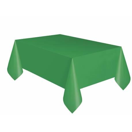Nappe en plastique rectangle verte réutilisable lavable imperméable Dimensions : 275 cm x 140 cm