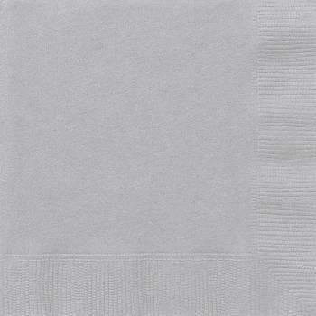 20 Serviettes papier argent