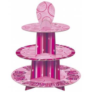 Presentoir a gateaux pink personnalisable