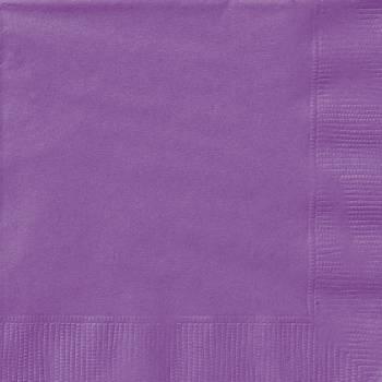 20 Serviettes papier violet clair