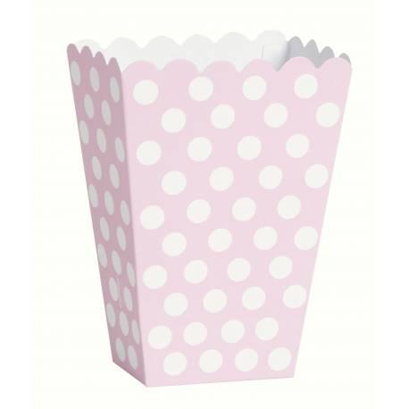 Paquet de 8 boîtes Pop Corn individuelle Dimensions : 13.5 cm de hauteur, 14.5 cm de large, et 6 cm pour le soufflet)