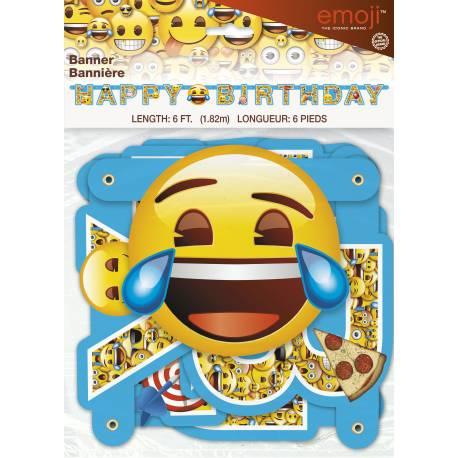 Banderole Emoji Happy birthday pour la deco de votre anniversaire.