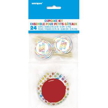 Kit 24 caissettes cupcakes Rainbow II