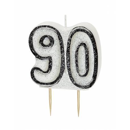 Bougie chiffre 90 ans