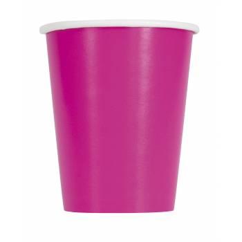 14 Gobelets carton fluo rose