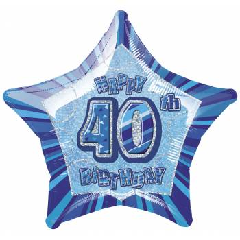 Ballon Star Bleu 40 ans