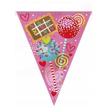 Banderole fanions Sweet valentine
