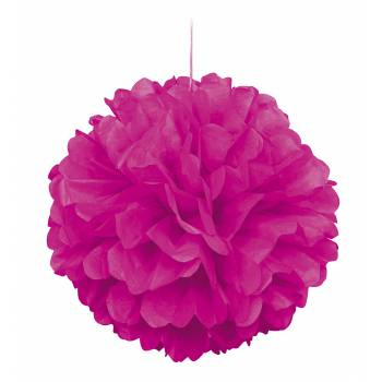 Suspension froufrou papier fluo rose