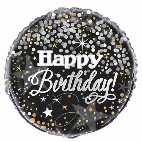 Ballon en aluminium pouvant être gonflé avec ou sans hélium à l'aide d'une paille Dimensions : Ø 45 cm Parfait pour la deco de votre...