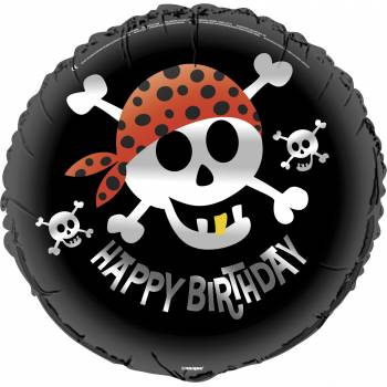 Ballon hélium happy birthday pirate