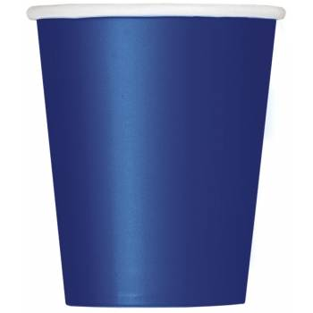 14 Gobelets carton bleu marine
