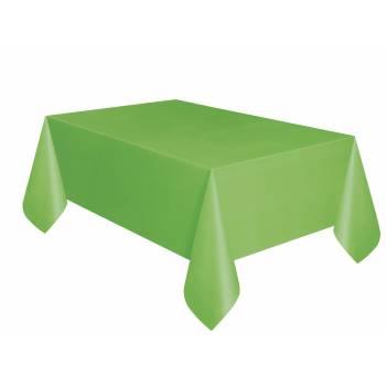 Nappe en plastique vert lime
