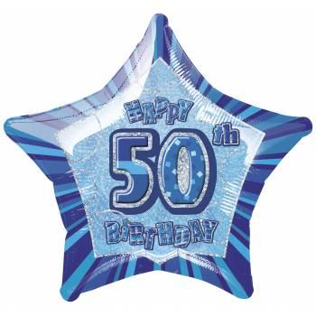 Ballon Star Bleu 50 ans