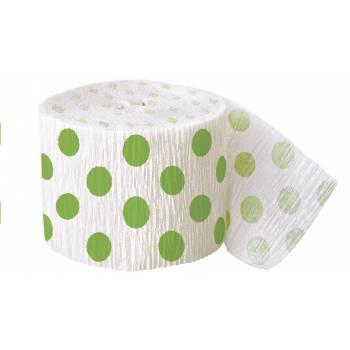 Guirlande papier crépon pois vert