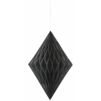 Suspension diamant papier noire