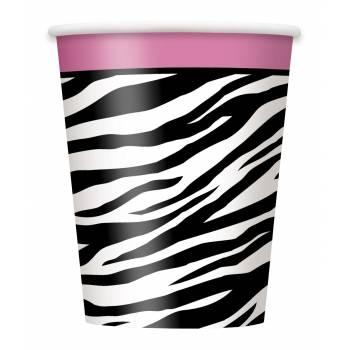 8 gobelets zebra passion